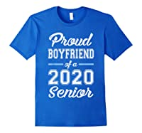 Proud Boyfriend Of 2020 Senior Graduation T-shirt For Family Royal Blue