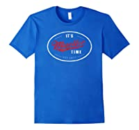 Mueller Time Tshirt Anti Trump Resist Vintage Impeach Shirt Royal Blue