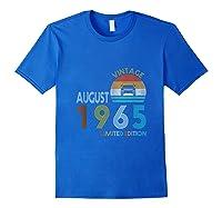 Retro Classic Vintage Jeeps August 1965 54th Birthday Jeeps Shirts Royal Blue