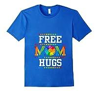 Free Mom Hugs Cute Flower Pride Lgbt Month 2019 Gift Shirts Royal Blue