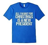 Impeach Trump Christmas T Shirt Funny Anti Potus Holiday Royal Blue