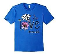 Mother S Day Gift Love Mema Life Flower Tshirt Royal Blue