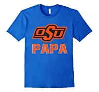 Oklahoma State Cow My Favorite Name - Papa T-shirt Royal Blue