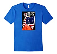 Vintage Independence Day B Boss Ross 4th Of July Baseball Shirts Royal Blue