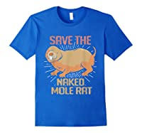 Naked Mole Ra Shirts Royal Blue