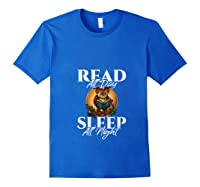 Sleep All Day Read All Night Bookish Read A Book Day Owl T Shirt Royal Blue