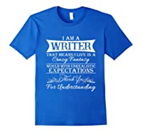 I M A Writer Gift For Authors Novelists Literature Shirt Royal Blue