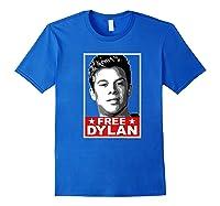 American Vandal Free Dylan Political Poster Premium T-shirt Royal Blue