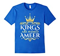Kings Are Named Ameer T-shirt Royal Blue