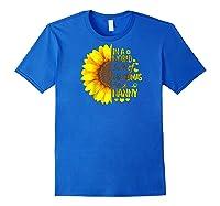 In A World Full Of Grandmas Be A Nanny Baseball Shirts Royal Blue
