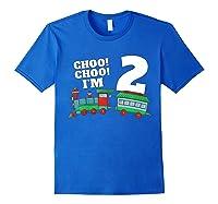 I'm Two Train 2nd Birthday Boy 2 Train Gift Shirts Royal Blue