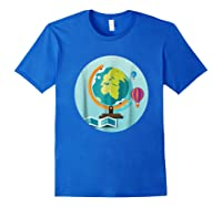 Science Design 4 Geography Travel T Shirt Royal Blue