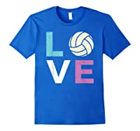 And A Volleyball Shirts Royal Blue