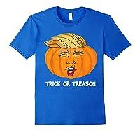 Trick Or Treason Anti Trump 2020 Halloween Pumpkin Trump Shirts Royal Blue