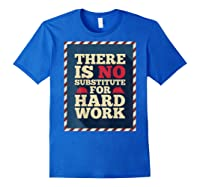 Happy Labor Day Hard Worker Cool Employee Gift Back Print T-shirt Royal Blue