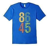 8645 T Shirt Impeach Trump Royal Blue