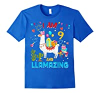 I Am 9 Years Old Zing Cute 9th Birthday Gift T-shirt Royal Blue