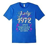 1972 47th Birthday Gift 47 Years Old Shirts Royal Blue
