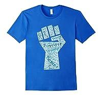 Resist Fist Anti Trump Boycott Impeach Trump T Shirt Royal Blue