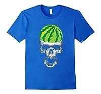 Skull Watermelon Cool Summer Fruit Melon Lover Gift Shirts Royal Blue