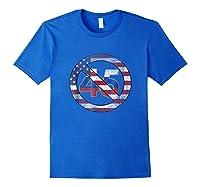 Impeach 45 Flag Themed Anti Trump Impeach Trump Shirt Royal Blue