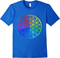 Blume Des Lebens Heilige Geometrie Spirituell Zen Yoga T-shirt Royal Blue