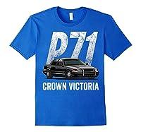 Police Car Crown Victoria P71 Shirt Royal Blue