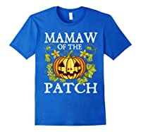 Mamaw Of The Patch Pumpkin Halloween Costume Gift Shirts Royal Blue