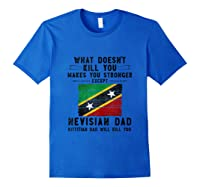Saint Kitts Nevis Dad Gifts For Fathers Day Tank Top Shirts Royal Blue