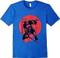Marvel Deadpool Red Moon Samurai Graphic T-shirt Royal Blue
