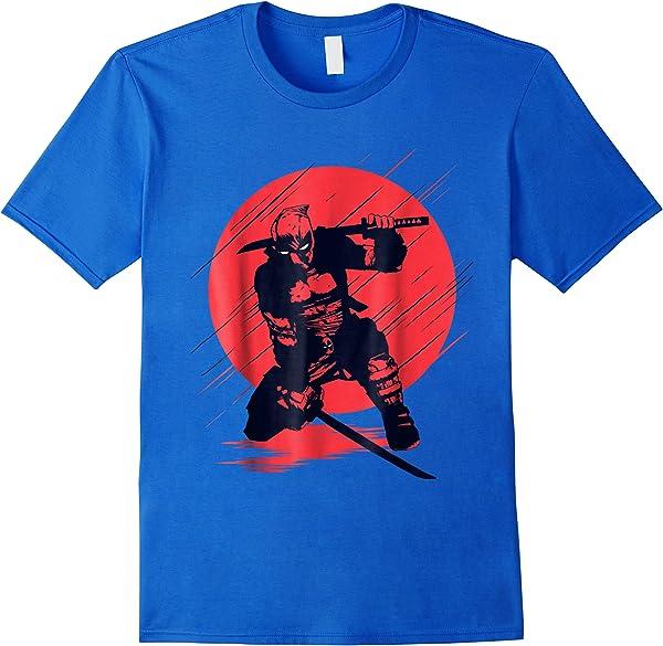 Marvel Deadpool Red Moon Samurai Graphic T-shirt