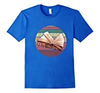 Bookworm Vintage Retro Bookish Reading Read A Book Day Gift Premium T Shirt Royal Blue