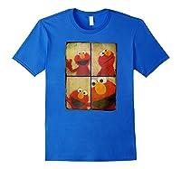 Sesame Street Photo Booth Elmo Shirts Royal Blue