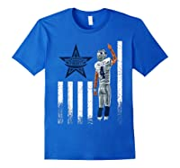 Cow Nation Of Legends American Flag For T Shirt Royal Blue