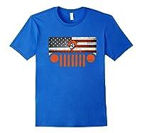 Oklahoma State Cow Nation Flag Apparel Premium T Shirt Royal Blue