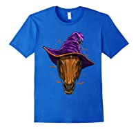 Horse Witch Hat Funny Halloween Gifts Horse Lover Whisperer T Shirt Royal Blue