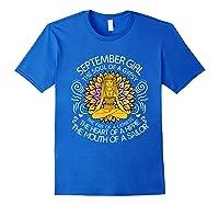 September Birthday September Girl The Soul Of A Gypsy Tshirt Royal Blue
