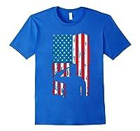 Veteran S Day Patriotic Usa Flag We Salute You Veterans T Shirt Royal Blue