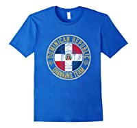 Funny Beer Dominican Republic Drinking Team Casual T-shirt Royal Blue