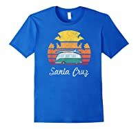 Santa Cruz Souvenir Retro Fun California Clothing Shirts Royal Blue