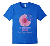 Breast Cancer Awareness Month Pink Ribbons Flower T Tank Top Shirts Royal Blue
