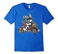 Easter Bunny Motorcycle Tshirt Biker Gifts Braap T-shirt Royal Blue