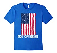 Betsy Ross American Flag Tshirt With 13 Stars For Protesters Royal Blue