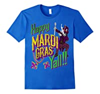Happy Mardi Gras Yall Dabbing Voodoo King Costume Gift Shirts Royal Blue