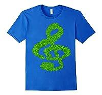 Music Note Shamrock Funny St Saint Patrick S Day T Shirt Royal Blue