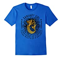 January Girl The Soul Of A Mermaid Tshirt Funny Gifts Premium T Shirt Royal Blue