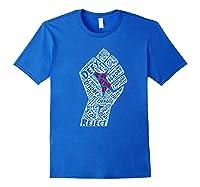 Impeach Crush Trump Resist Fist Anti Trump T Shirt Royal Blue