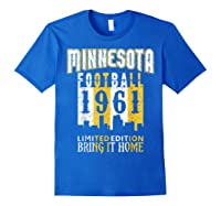 Minnesota 1961 Skyline Throwback Football Shirts Royal Blue