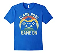 Kindergarten 2019 Class Of 2032 Game On Gamer, Grow With Me Shirts Royal Blue