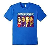 Congress Aoc Rashida Ayanna Ilhan Pop Art The Squad Premium T-shirt Royal Blue